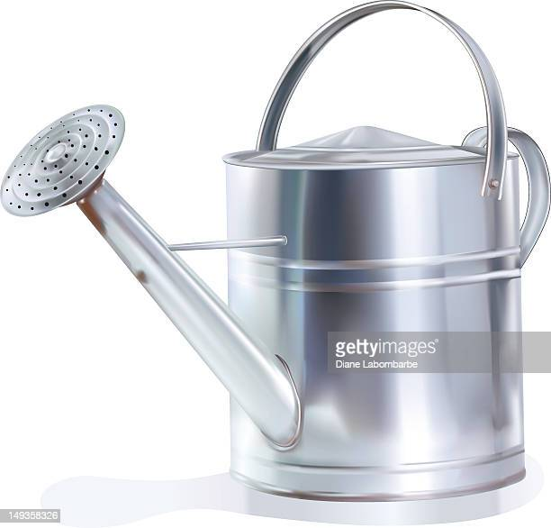 watering can - watering can stock illustrations