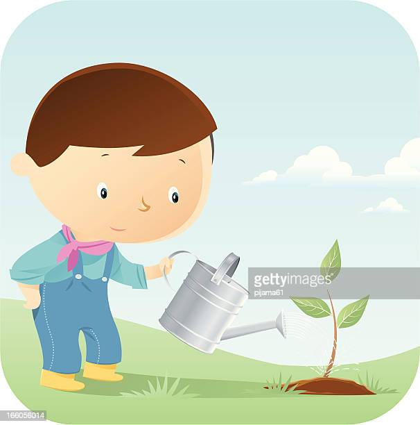 watering - watering can stock illustrations, clip art, cartoons, & icons