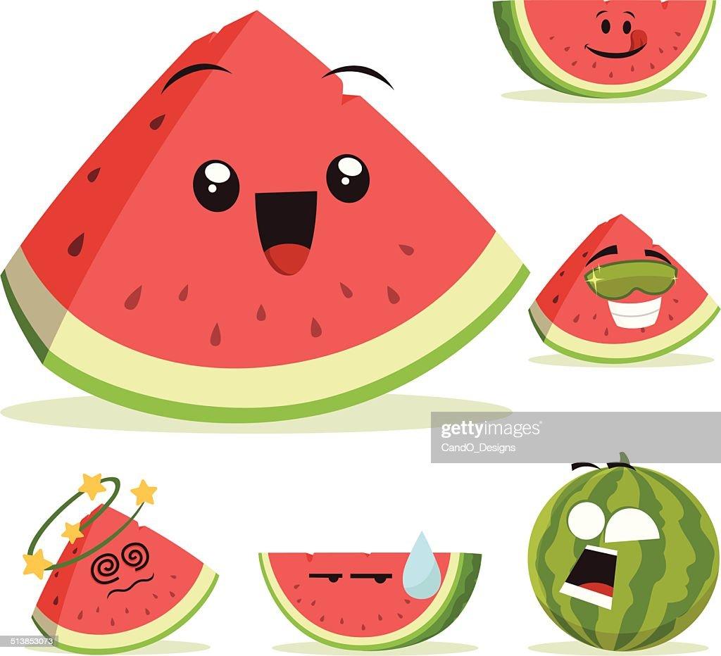 Watermelon Cartoon Set A