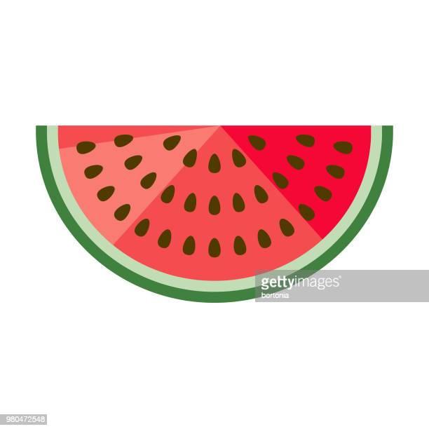 Watermelon Flat Design Fruit Icon
