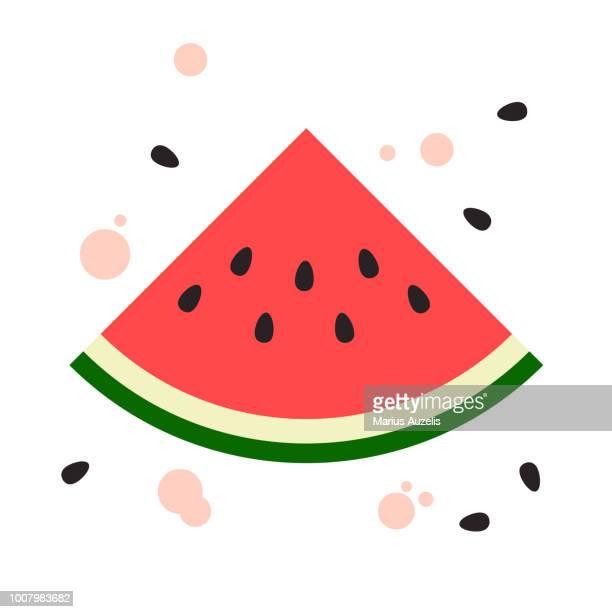 watermelon flat design - watermelon stock illustrations
