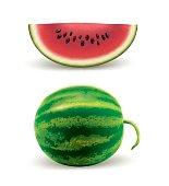 Watermelon Fruit Whole & Slice
