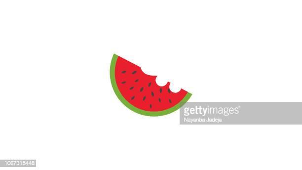 Watermelon half eaten icon