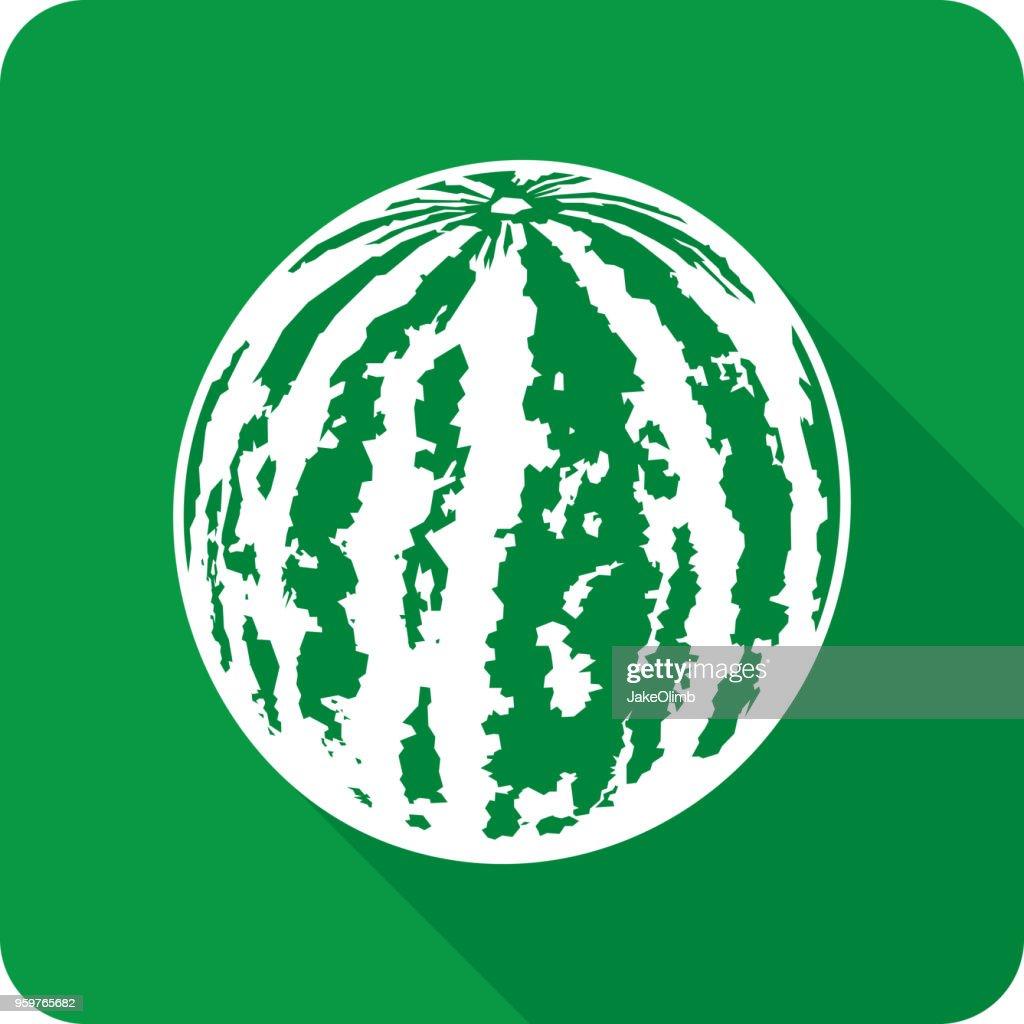 Wassermelone-Symbol Silhouette : Stock-Illustration