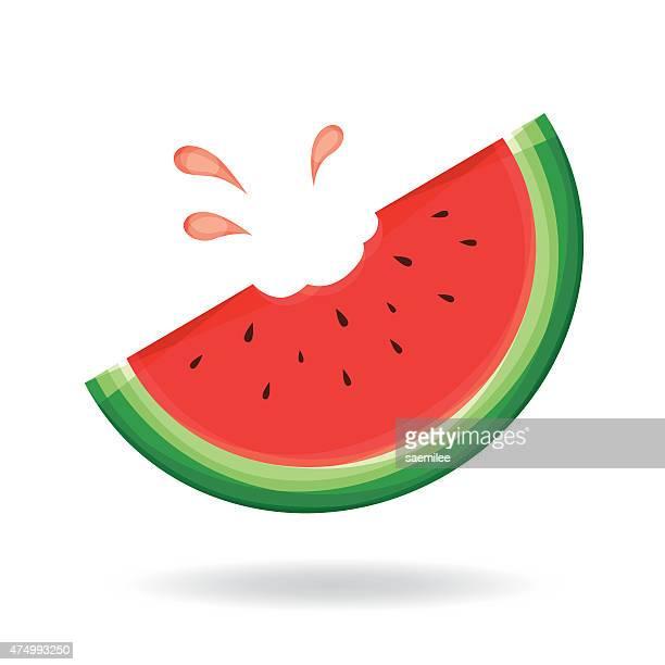 watermelon - juicy stock illustrations