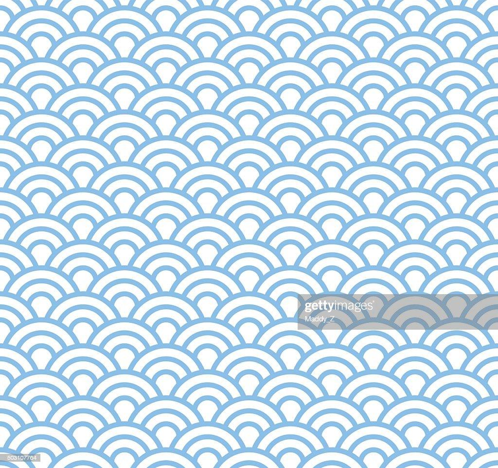 Wave, asian seamless pattern