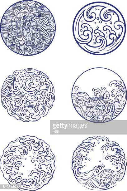 wave design - wave pattern stock illustrations, clip art, cartoons, & icons