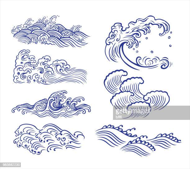 wave-design - welle stock-grafiken, -clipart, -cartoons und -symbole