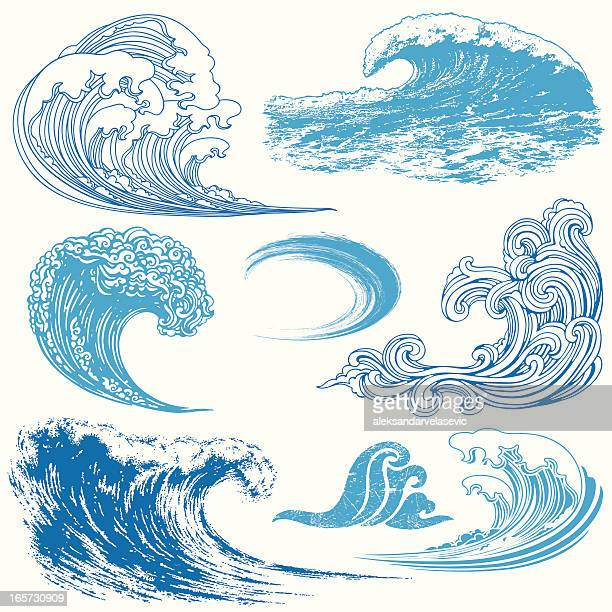 wave-elemente - welle stock-grafiken, -clipart, -cartoons und -symbole