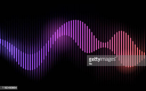 wave form audio gradient glow - audio equipment stock illustrations