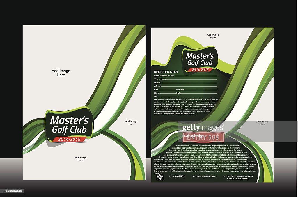 Wave Golf Flyer Template