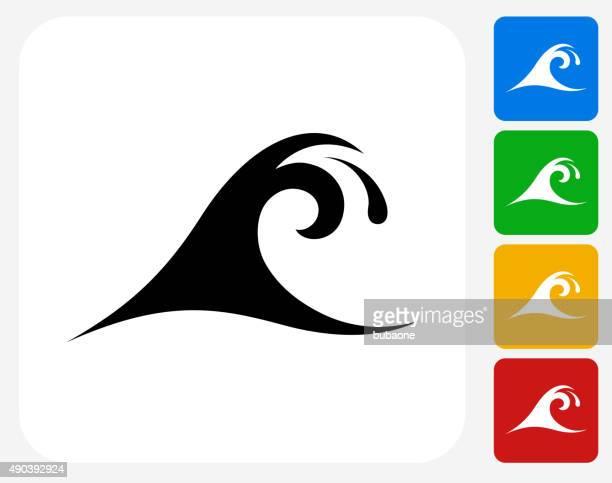 Wave Icon Flat Graphic Design