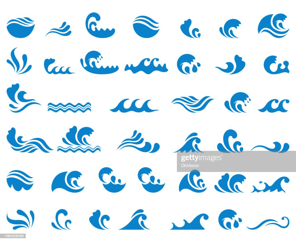 Wave icon set