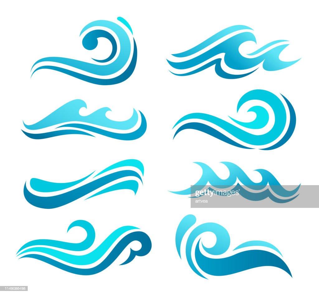 Set di icone onda : Illustrazione stock