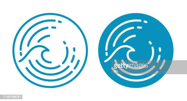 wave ocean symbol - welle stock-grafiken, -clipart, -cartoons und -symbole
