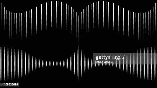 wave on the black background - soundtrack stock illustrations, clip art, cartoons, & icons