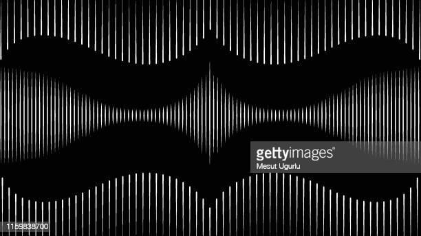 illustrazioni stock, clip art, cartoni animati e icone di tendenza di onda sullo sfondo nero - elettromagnetismo