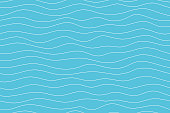 Wave pattern seamless abstract background. Lines wave pattern white on blue background for summer vector design.
