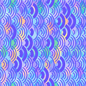 wave seamless pattern abstract scales simple Nature background japanese circle blue lilac purple pink colors. Can be used for fabrics, wallpapers, websites. Vector