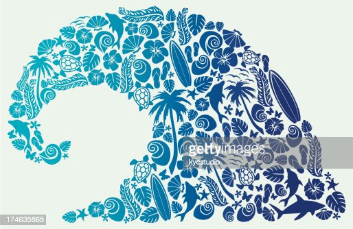 Wave Shape Composition High Res Vector Graphic Getty Images