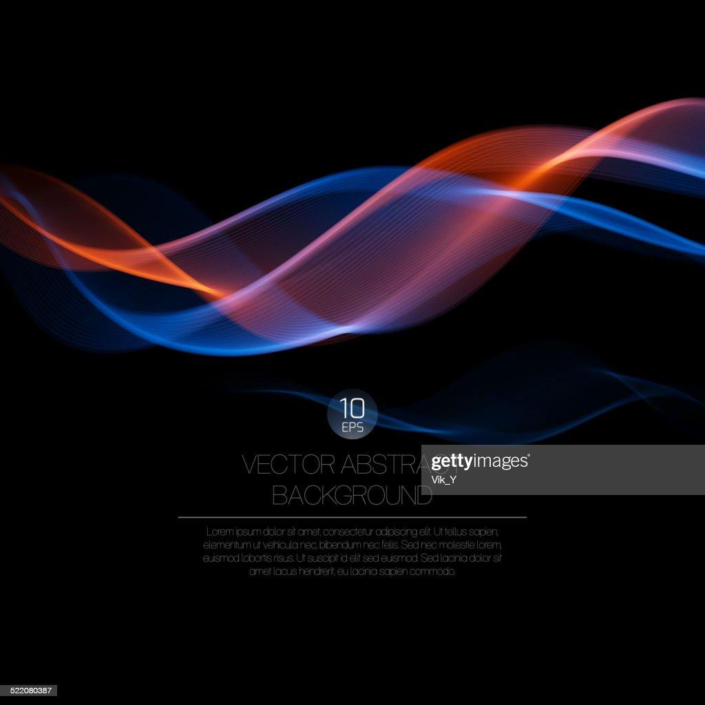 Wave smoke background. Vector illustration