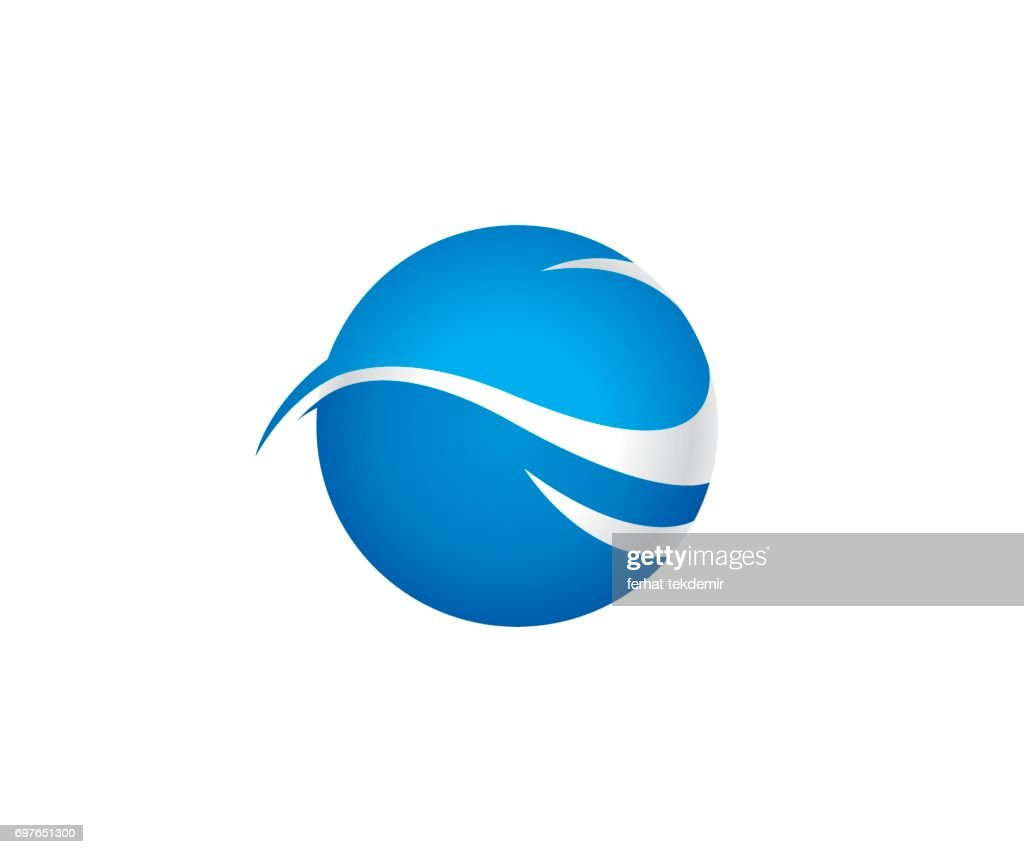 Wave world vector icon