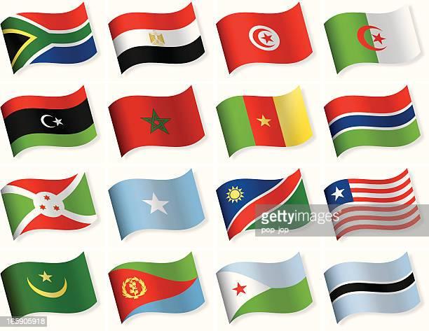 ilustrações, clipart, desenhos animados e ícones de bandeira de forma de onda coleção de ícones-áfrica - libéria