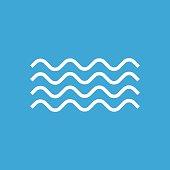 Waves icon, modern minimal flat design style. Wave linear symbol