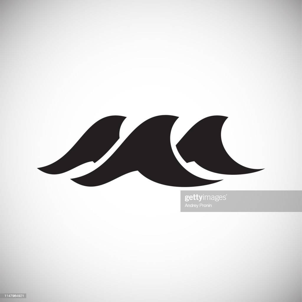 Waves icon on background for graphic and web design. Simple vector sign. Internet concept symbol for website button or mobile app.