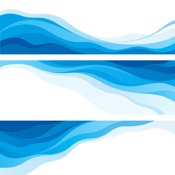 waves - swirl stock illustrations