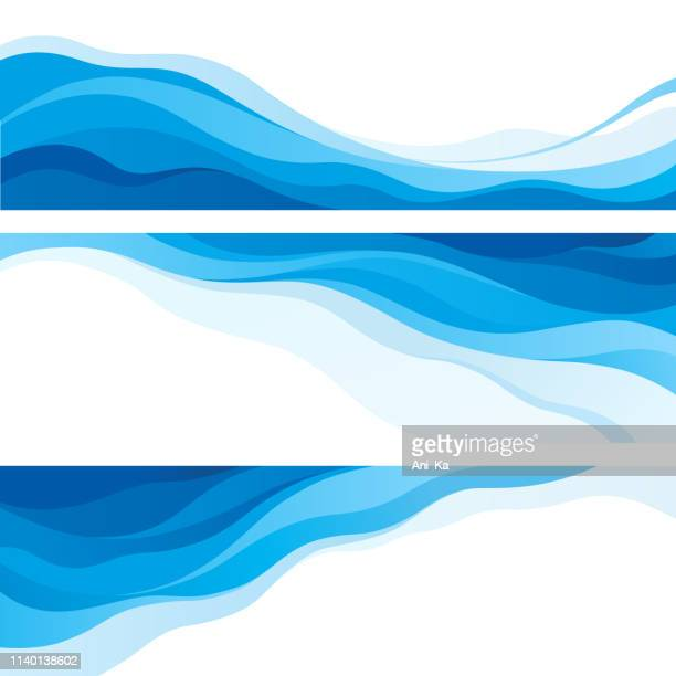 waves - water stock illustrations