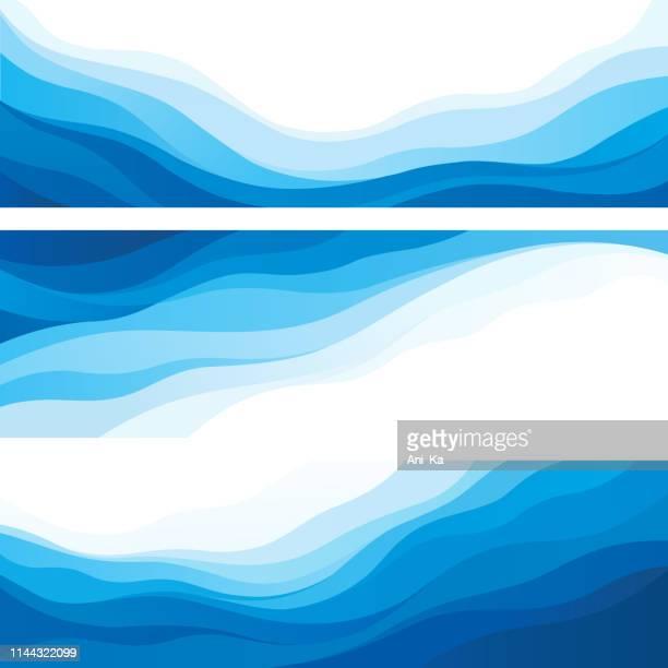 illustrazioni stock, clip art, cartoni animati e icone di tendenza di onde - profondo