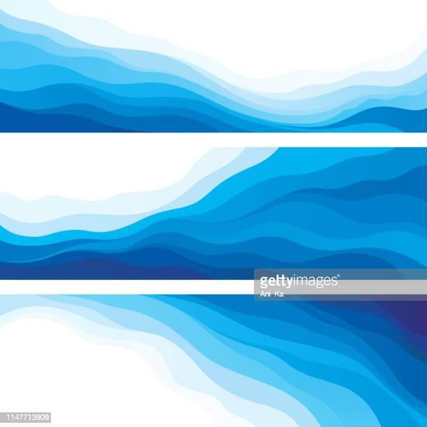 waves - flowing stock illustrations