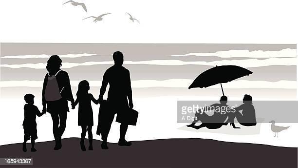 waves vector silhouette - blanket stock illustrations