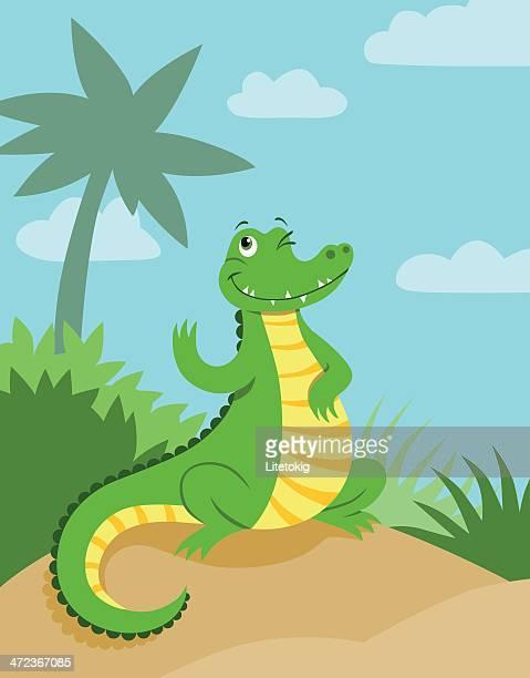 Waving crocodile