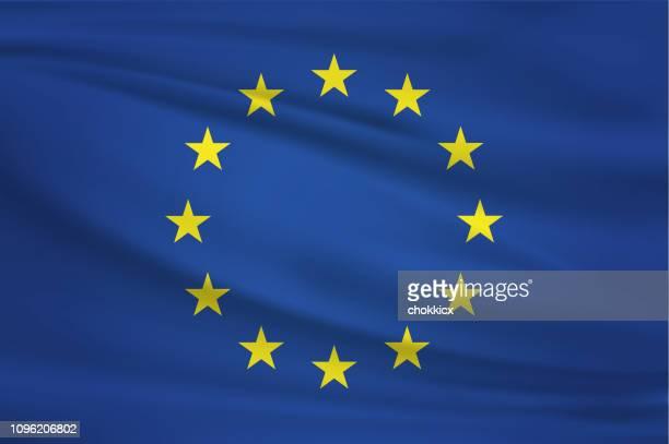 eu の旗を振っています。 - 欧州連合旗点のイラスト素材/クリップアート素材/マンガ素材/アイコン素材