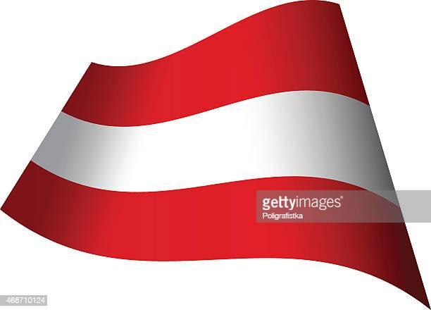 Winken Flagge von Österreich