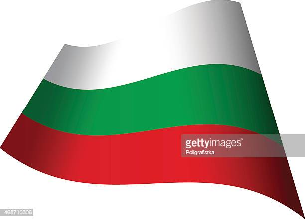 winken flagge von bulgarien - bulgarien stock-grafiken, -clipart, -cartoons und -symbole
