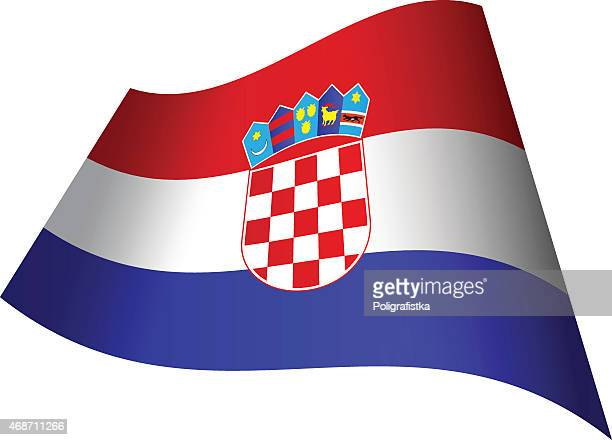 waving flag of croatia - croatian flag stock illustrations, clip art, cartoons, & icons