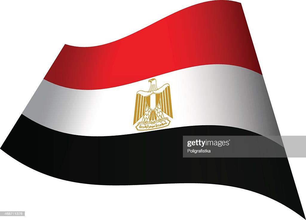 Waving flag of Egypt