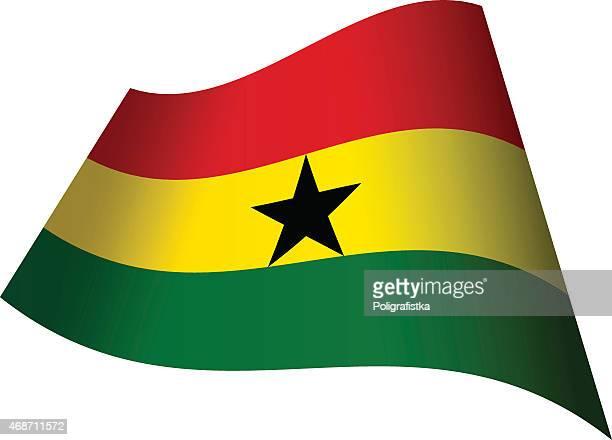waving flag of ghana - ghana flag stock illustrations, clip art, cartoons, & icons