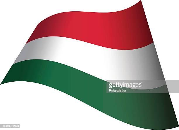 Waving flag of Hungary