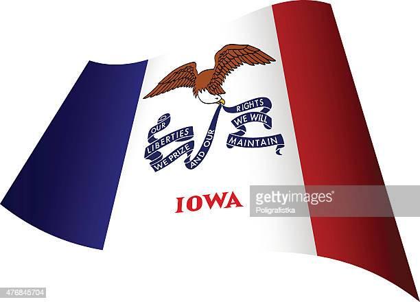 Waving Flag of Iowa