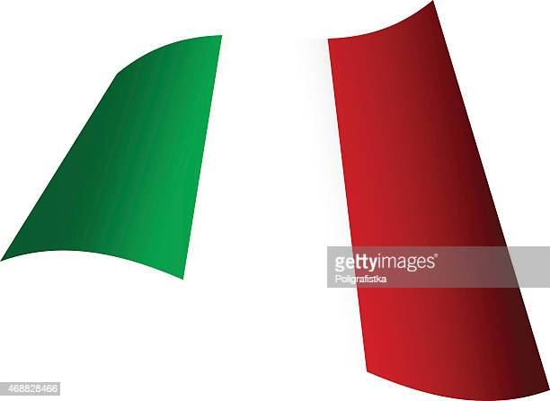 Waving flag of Italy