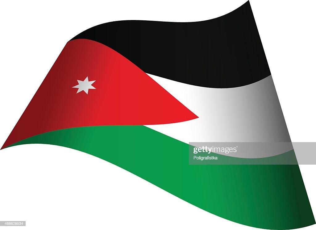 waving flag of jordan vector art getty images