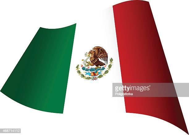 Bandera de México agitando