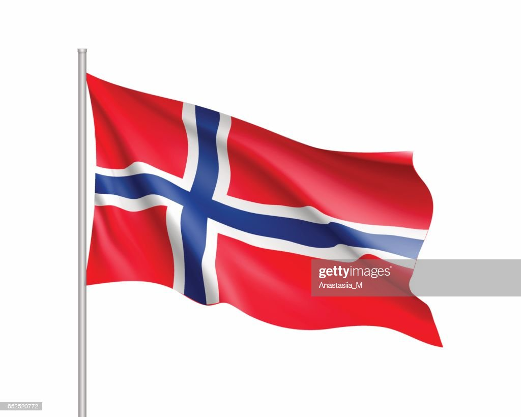 Waving flag of Norway state