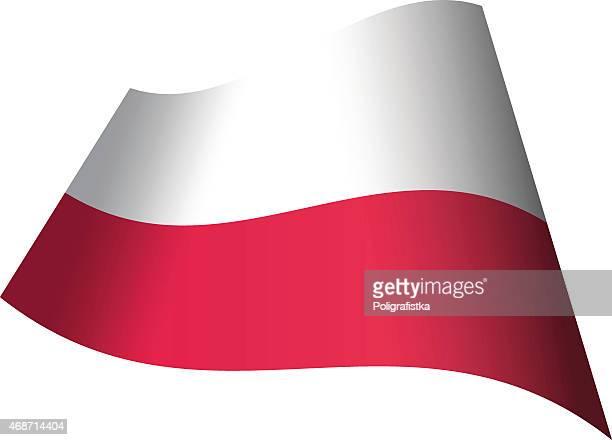 winken flagge von polen - polnische flagge stock-grafiken, -clipart, -cartoons und -symbole