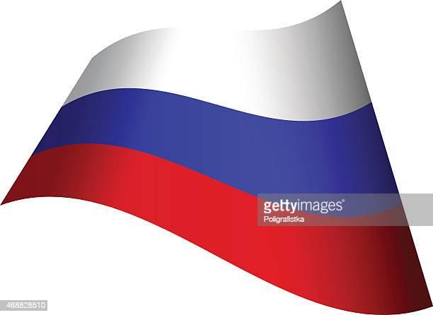 winken flagge von russland - russische flagge stock-grafiken, -clipart, -cartoons und -symbole