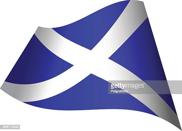 Waving flag of Scotland